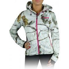 FXR 2014 Entice Softshell Womens Hoodie Jacket APHD Snow Camo