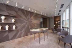 実績写真:KLANKA-ginza(ジュエリーショップ)|香取建築デザイン事務所 Walls, Jewellery, Boutique, Interior, Shopping, Surface Finish, Jewels, Indoor, Schmuck