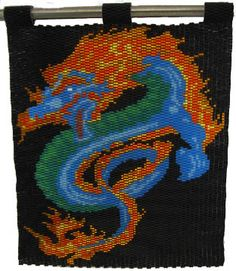 Fire Dragon Peyote Bead Pattern at Bead-Patterns.com