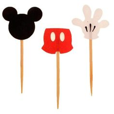 enfeites artesanais do Mickey para aniversário