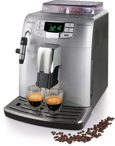 Saeco Intelia Class Super-Automatic Espresso Machine - Simplifies the home brewing, user friendly machine. Machine A Cafe Expresso, Cappuccino Machine, Saeco Espresso, Automatic Espresso Machine, Cappuccino Coffee, Coffee Shop, Coffee Accessories, Latte Macchiato, Crafts