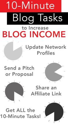 Focusing on income in short bursts helps you stick to your overall income strategy. No guesswork, no busywork. http://ndcfullcircle.com/10-minute-tasks-for-blog-income/?utm_campaign=coschedule&utm_source=pinterest&utm_medium=ND Consulting - Blog to Busine