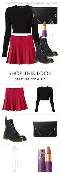 """""""Kira Yukimura Inspired Valentine's Day Outfit"""" by nathj ❤ liked on Polyvore featuring Proenza Schouler, Dr. Martens, Zad, tarte, tw, valentinesday and Kirayukimura"""