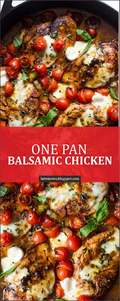 one pan balsamic chicken latte intero Chicken Royale Recipe, Cooking Recipes, Healthy Recipes, Easy Recipes, One Pot Meals, 30 Min Meals, Food Dishes, Crockpot, Dinner Recipes
