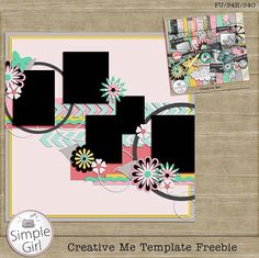 Template freebie from Simple Girl #scrapbook #digiscrap #scrapbooking #digifree #scrap