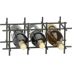 32 Ideas crate and barrel kitchen storage wine racks Wine Bottle Storage, Wine Rack Storage, Wine Bottle Rack, Crate Storage, Kitchen Storage, Food Storage, Wooden Crates Gifts, Wooden Crate Shelves, Metal Milk Crates