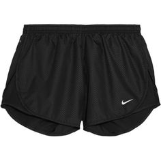 Nike Modern Tempo embossed shell shorts ($11) ❤ liked on Polyvore featuring activewear, activewear shorts, shorts, bottoms, sport, pants, black, nike sportswear, nike and nike activewear