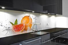 HEILER Glas-Arbeitsplatte und Glas Rückwand in der Küche
