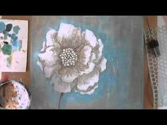 """Mixed Media Canvas """"always"""" Donna Downey Artist Gang 24.3. - YouTube"""