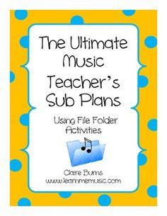 Music File Folder Sub Plans