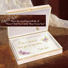 Gift Music Boxes - Dear Mother Collectible Porcelain Music Box