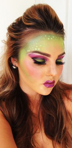 Halloween makeup ! Not sure what you would be a mermaid maybe Halloween Makeup #halloween #makeup