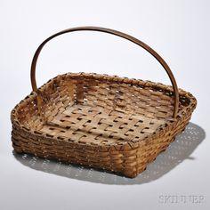 Shaker Black Ash Herb Basket by Skinner