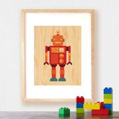 Fab.com   Robot Wood Print