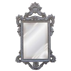 Hickory Manor House Templar Mirror in Creme Gold Silver