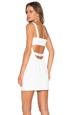 T by Alexander Wang Cutout Bandeau Dress in White