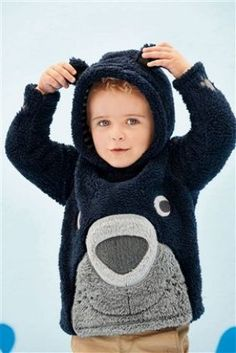 Buy Navy Fluffy Bear Fleece (3mths-6yrs) from the Next UK online shop