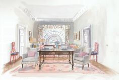 Proposing styles from chic and understated to mirrored and opulent, David Netto, Betsy Burnham, Robert Couturier, Alexandra Loew and Brian J. McCarthy reveal how they would decorate the executive mansion . . . for both candidates.
