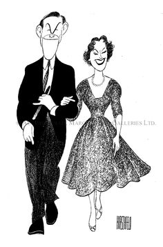 GEORGE BURNS AND GRACIE ALLEN ~ by Al Hirschfeld