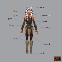 STAR WARS REBELS COSTUME AND LIGHTSABER COLOR GUIDE FOR AHSOKA TANO