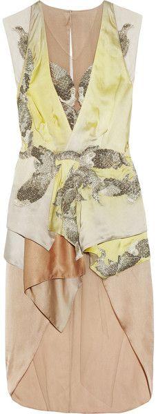 JULIEN MCDONALD   Koi Beadembellished Silkhabotai Dress