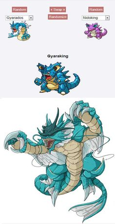 Gyaraking - Gyarados/Nidoking (Water Lizard)