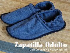 diario de naii: Tutorial Coser Zapatilla Adulto
