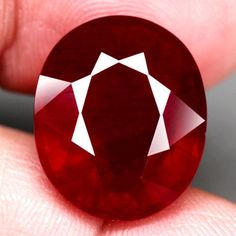 26.35CT.TITANIC! 18.5x15.4mm Oval Facet TOP BLOOD RED Natural Ruby MADAGASCAR #GEMNATURAL