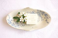Petite Faience Dish by BeyondTheBrocante on Etsy, €17.23
