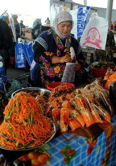 Salad Bags - Street Food in Uzbekistan
