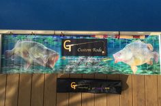 "The  ""GT Twisted X Series""  Pictured is a 3-8 kg  5'7"" Bait Caster rod  & Brag mat (Cod & Yella) & Rod bag"