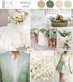 Photos from top left; Bouquet | Aaron Delesie, Calligraphy | Linea Carta, Olive Centrepiece | Punam Bean, Magnolia in book | Jemma Keech, Sage dress | Lisa Warninger (styling Chelsea Fuss), Bridesmaids | You look nice today
