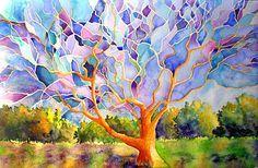 Eileen McGann Art: Stained Glass Series acrylic on canvas