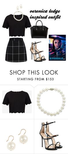 veronica lodge inspired outfit by hjbrophy on Polyvore featuring Ted Baker, Giuseppe Zanotti, Givenchy, Aurélie Bidermann and Lord & Taylor