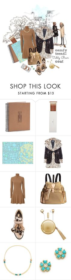 """""""Comfy Trend: Teddy Bear Coat"""" by valeria-mezhevikina ❤ liked on Polyvore featuring Faber-Castell, Alessandra Rich, A.L.C., Nicholas Kirkwood, The Macbeth Collection, Pamela Love, Jennifer Meyer Jewelry, Casetify, NicholasKirkwood and alc"""