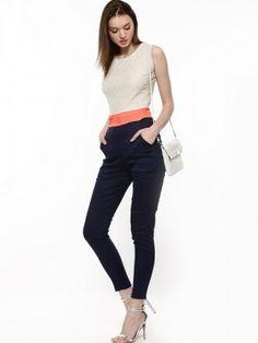 58da834abb9 Buy Liebemode White Dark Blue Color Block Jumpsuit for Girls Online in India