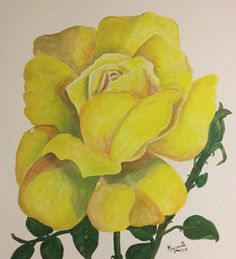 Rosa amarilla Painting & Drawing, Drawings, Art, Abstract Flowers, Yellow Roses, Abstract, Paintings, Art Background, Kunst