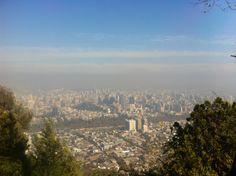 El paisaje que se ve de Santiago del Cerro San Critobal