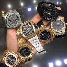 Which would you pick? AP, Richard Mille or the Patek Philippe 💭 Fancy Watches, Luxury Watches, Cool Watches, Rolex Watches, Watches For Men, Richard Mille, Patek Philippe, Audemars Piguet, Omega