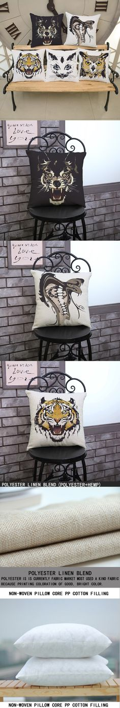 luxury home decoration outdoor Car sofa seat cushion cushions pillow Animal tiger owl 45*45cm/17.7*17.7' pattern printing $6.55