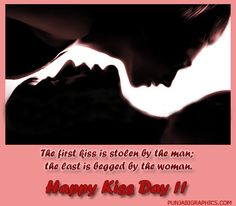 Happy Kiss Day 2017 Images, Wallpapers, Pictures and Quotes First Kiss, First Love, Happy Kiss Day Images, Hd Quotes, 2017 Images, Lovey Dovey, Get Over It, Kissing, Be Yourself Quotes