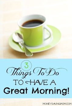 Do these three things every single morning and you're just about guaranteed to have an amazing day! I can't believe how simple these are and yet they work SO well!