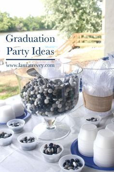 Graduation Party Ideas for High School - School colored M&Ms - click for more