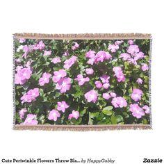 Cute Periwinkle Flowers Throw Blanket