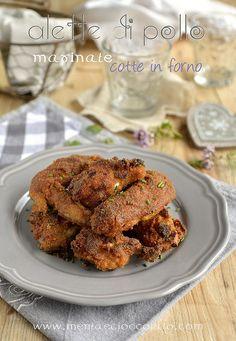 Menta e Cioccolato: Alette di pollo piccanti marinate cotte al forno. ...   mentaecioccolato  