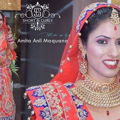 Adorable shots of my gorgeous bride. Bridal makeup and hairstyle by Short & Curly  For all bridal and non bridal bookings  Please contact - 9799969888 #beautifuljaipur  #bridalmakeup  #jaipurfashion  #weddingdress  #jaipurwedding