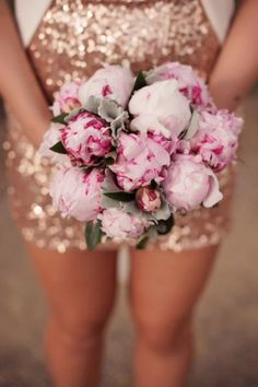 Sequins with peonies - I can't think of a better way to start the week!