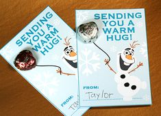 Free Frozen Valentine Printable - Download our free Olaf card