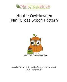 Hootie Owl-loween (Halloween) Cross Stitch Pattern by Pinoy Stitch, http://www.amazon.com/dp/B00F7410AS/ref=cm_sw_r_pi_dp_zBSosb1MP85P1