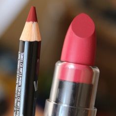 NYX matte lipstick Merlot + lipliner pencil Cabaret
